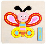 Three-Dimensional Colorful Wooden Puzzle Educational Toy