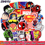50pcs Mixed Super Hero Stickers Funny JDM Kids Toy Stickers