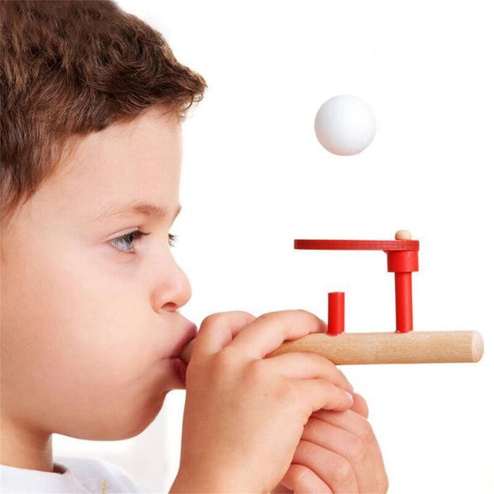 Montessori Materials Baby Wooden Blow Hobbies Outdoor Fun Sports Toy Ball Foam Floating Ball