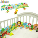 1pcs Jollybaby Baby Bed Crib Bumper Cartoon Animal Cloth Book