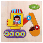 Kids 3D Puzzles Jigsaw Wooden Toy