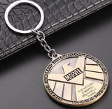 Metal Marvel Avengers Captain America Shield Keychain