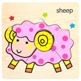 FoPcc Baby 3D Puzzle Jigsaw Wooden Toy