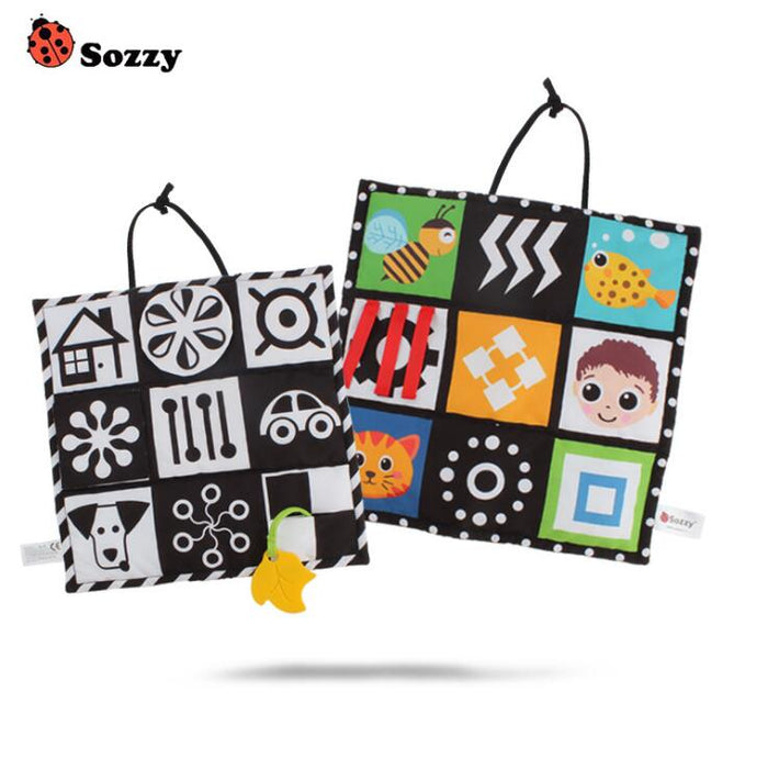 Sozzy Black and White Colorful Double-side Baby Cloth