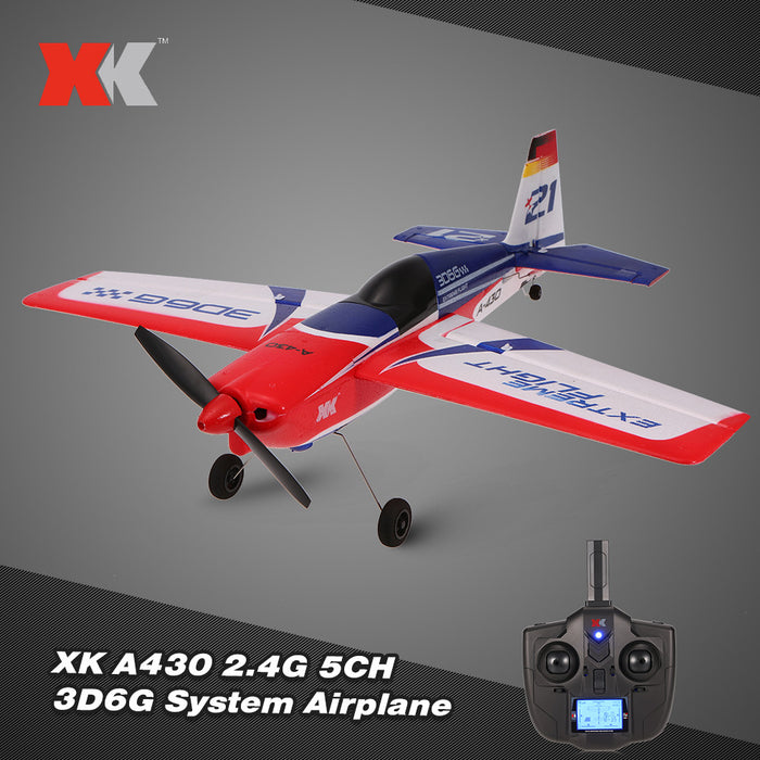 XK A430 2.4G 5CH Brushless Motor 3D6G System RC Airplane