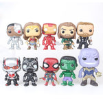 10pcs/set DC Justice League & Marvel Avengers Super Hero 10cm Model