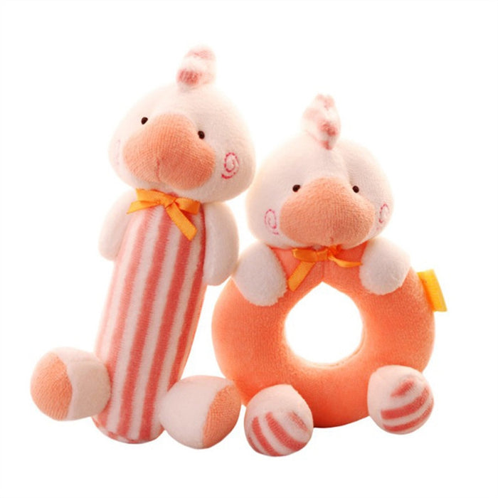 2 Pcs Baby Toys And Gifts Rattle Set Soft Plush Baby Toy