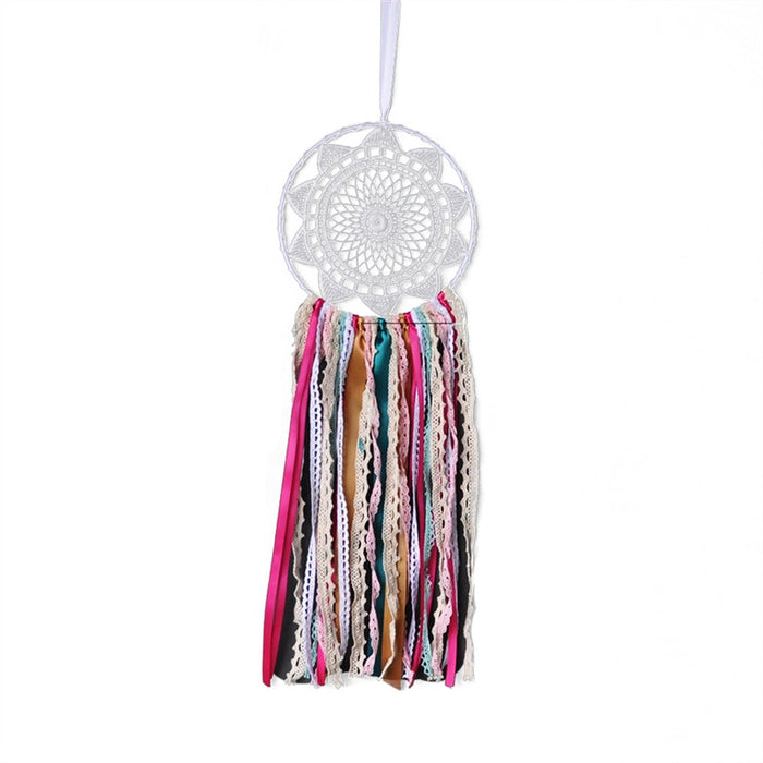Handmade Bohemia Ribbon Lace Dreamcatcher for Car