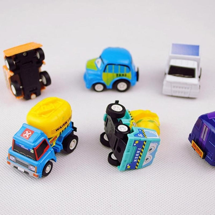 6pcs Children Cartoon Car Model