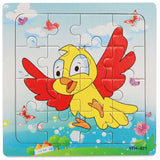 1Pcs Cartoon Wooden Animal and Transportation 3d Puzzle Jigsaw
