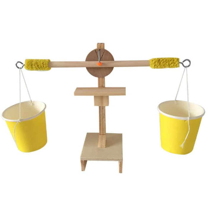 Kids Wood DIY Balance Scale Weigh Kit Model Science Experiment