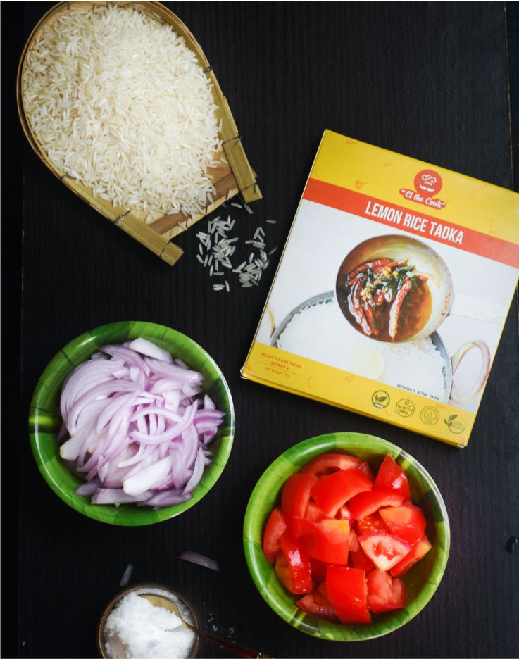 Quick & Easy Tomato Onion Rice using ELtheCook's Ready Tadka
