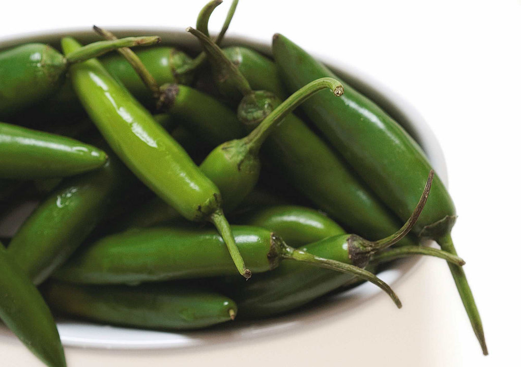 Green Chilies used in EltheCook Readymade Tadka (Tempered SPice blends). Shipping worldwide
