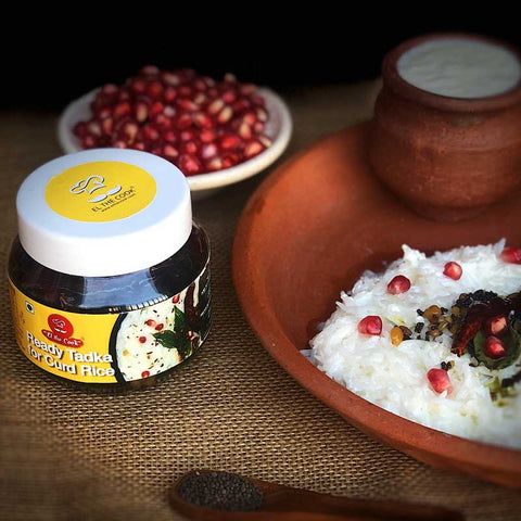 curd rice tadka, ready tadkas, south indian special tadka masalas, curd rice jars, Elthecook buy online, shipping worldwide