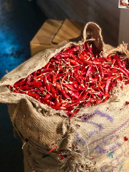 Guntur Red Chillies used in EltheCook Readymade Tadka (Tempered SPice blends). Shipping worldwide