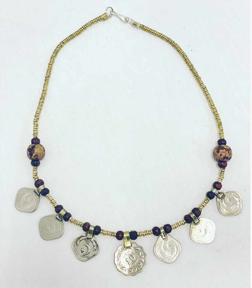 Kuchi Coin Beaded Necklace