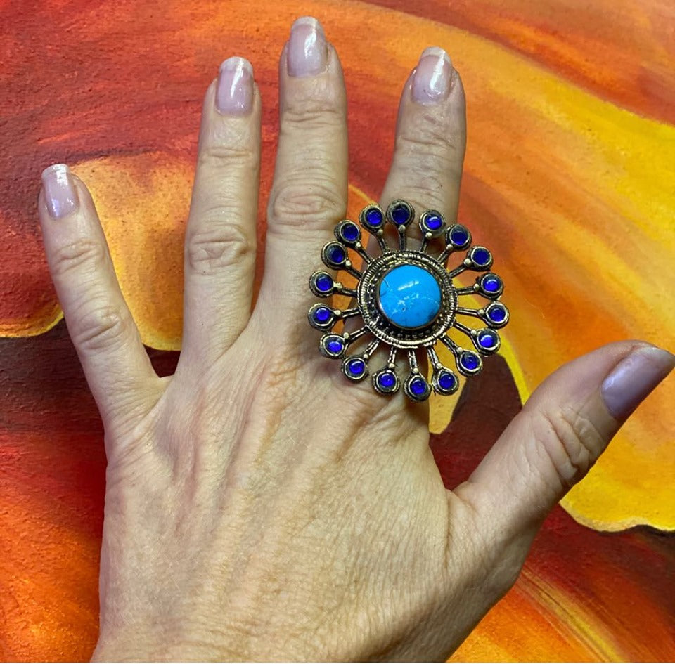 Tribal Peacock Ring