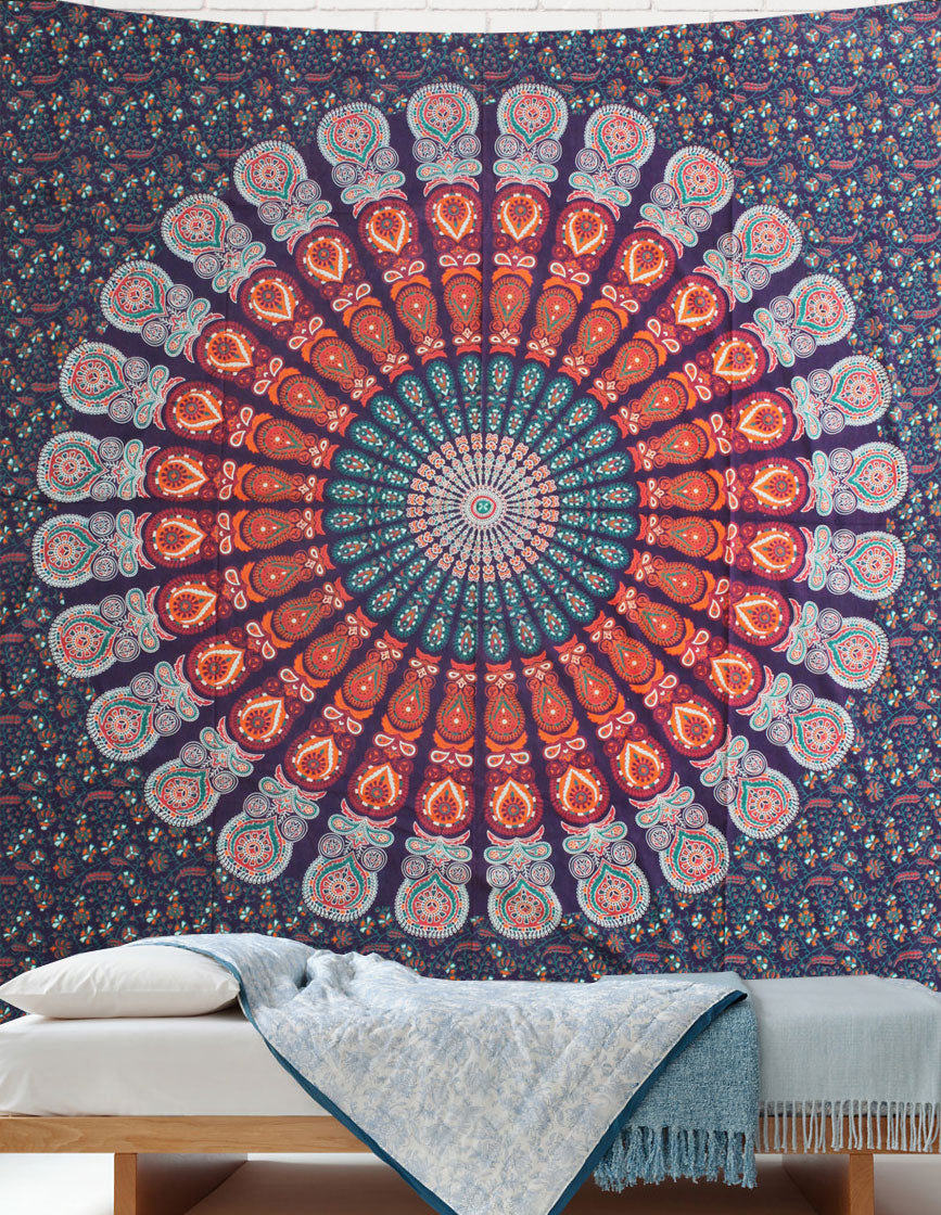 Mandala Queen Sheet Peacock