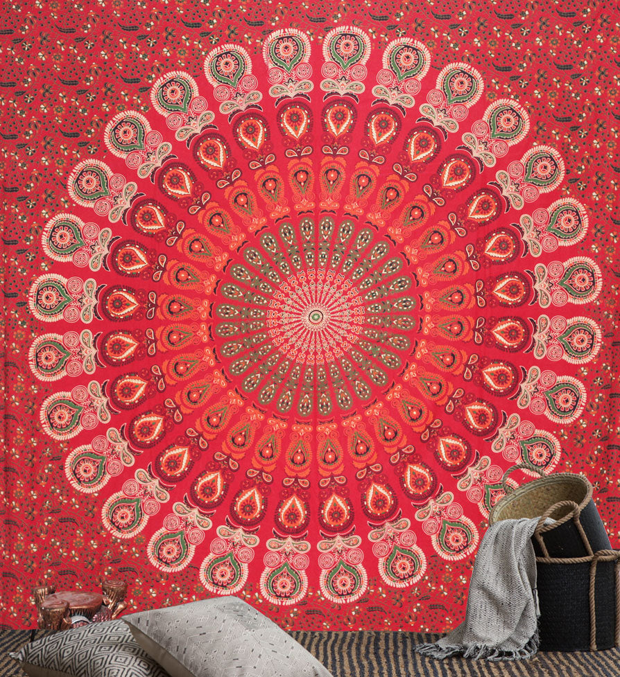 Peacock Mandala Throws