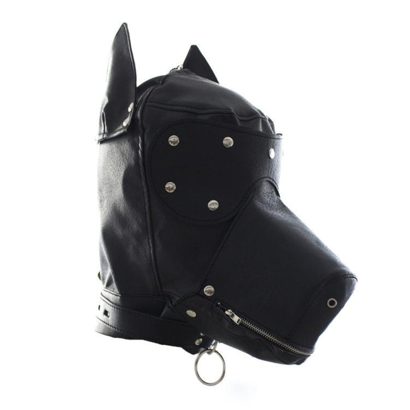 Bang Good Bondage Dog Hood Shiny Real Leather - Jazzy's Sexy Vibes