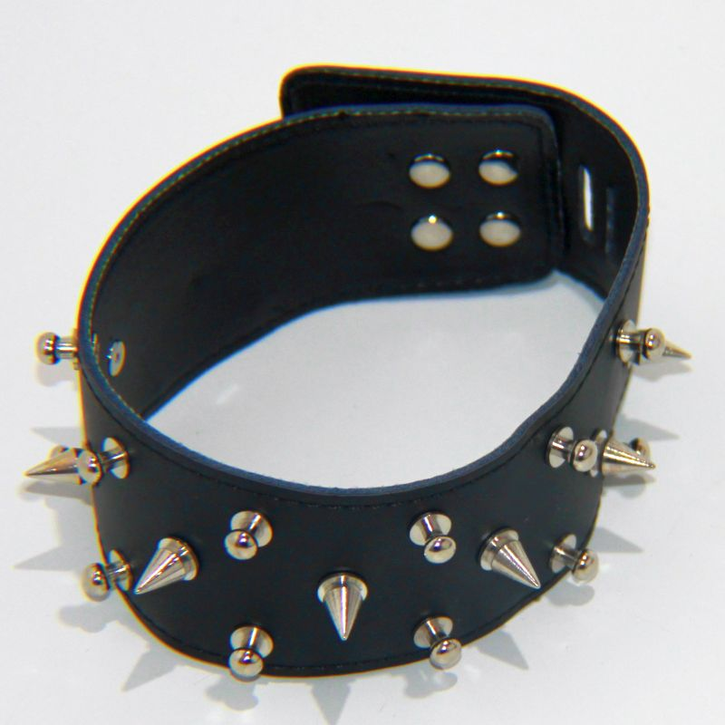 Rocky Studded & Spiked Collar Heavy - Jazzy's Sexy Vibes