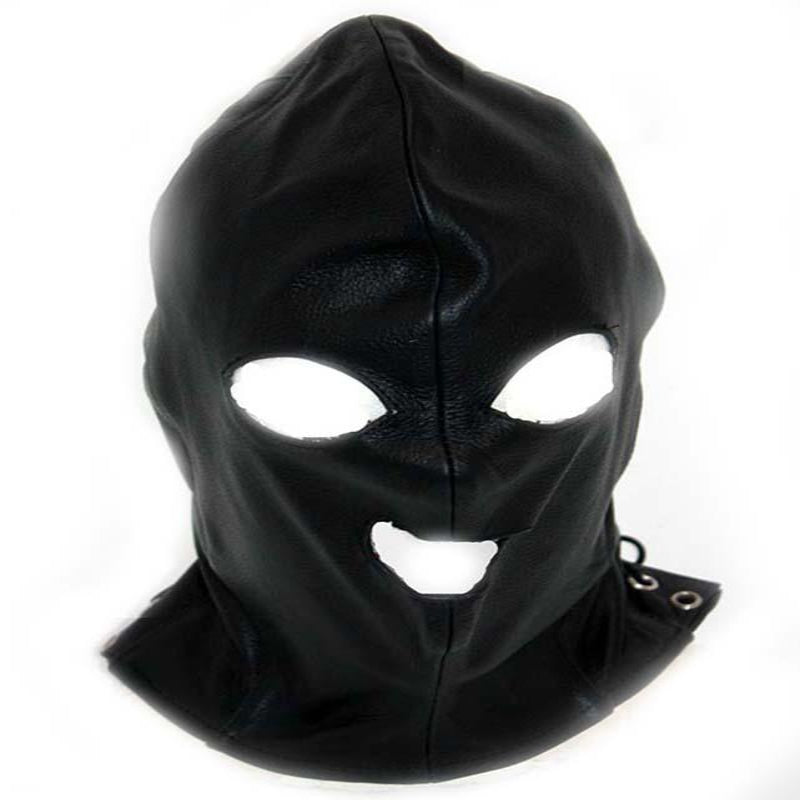 Leather Executioner Bondage Hood - Jazzy's Sexy Vibes