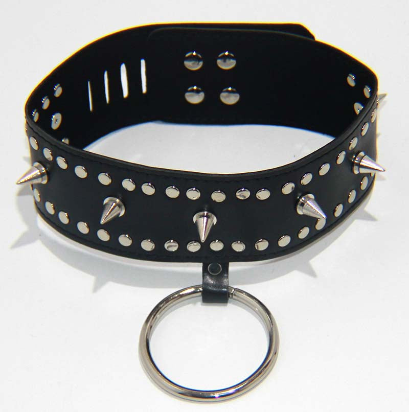 Punk Vegan Spiked Collar Heavy - Jazzy's Sexy Vibes