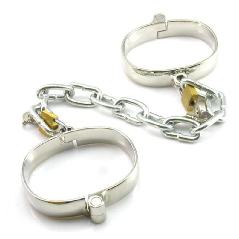 Unisex Luxury Dungeon Irons Cuffs With Chain - Jazzy's Sexy Vibes