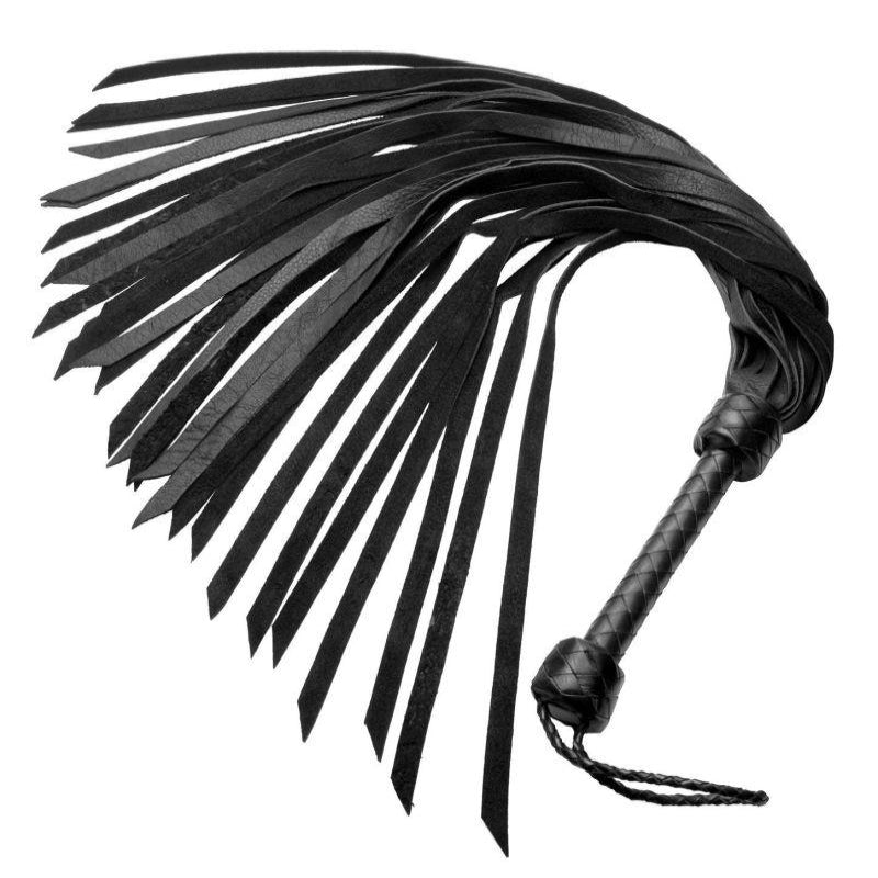 Whiplash Leather Flogger with Handle - Jazzy's Sexy Vibes