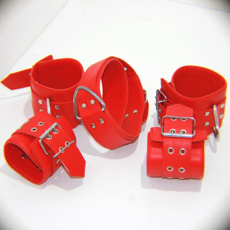 Wild Heavy Duty Collar with Ankle and Wrist Cuffs - Jazzy's Sexy Vibes
