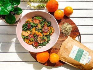 Hemp Seed Citrus Herb Salad!