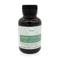 single bottle of hemp seed oil gel capsules