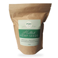 1kg Biodegradable bag of hulled hemp seeds