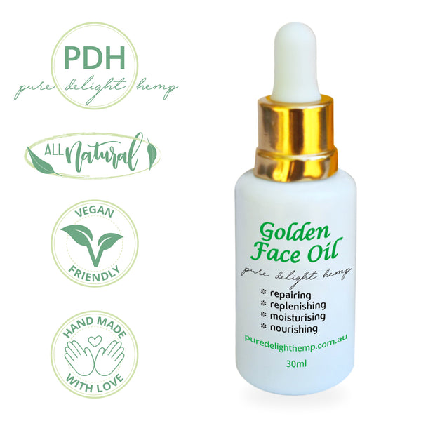 30ml bottle of golden face oil