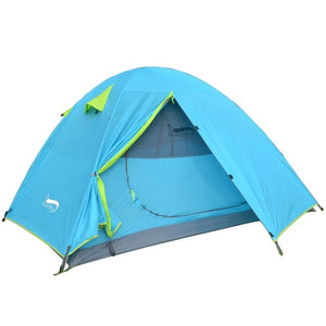Lightweight 1-3 Person Double Layer Waterproof  Camping Tent