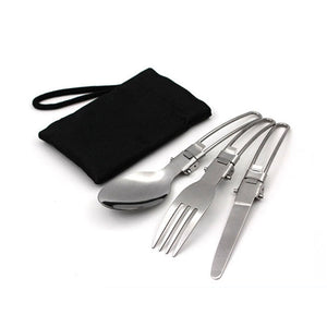 Non-stick Tableware and Cookware With Foldable Spoon & Fork