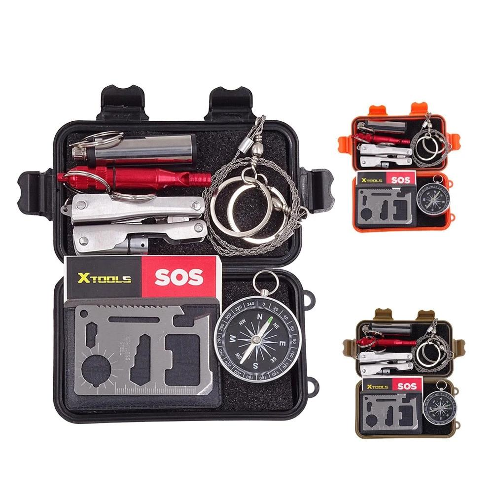 Outdoor Tactical SOS Emergency Gear Survival Kit Set