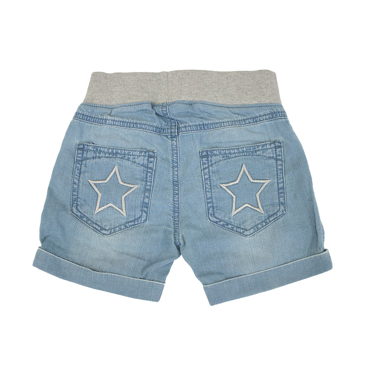 Shorts w. cuff: light wash