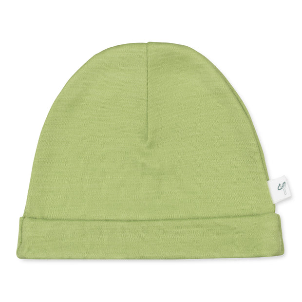Wool beanie: Forest green
