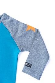 Body L/S, solid basics: Atlantic