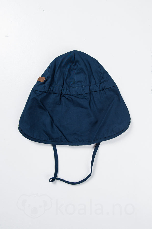 UV 30+ Cap w/neck, solid colour: Marine