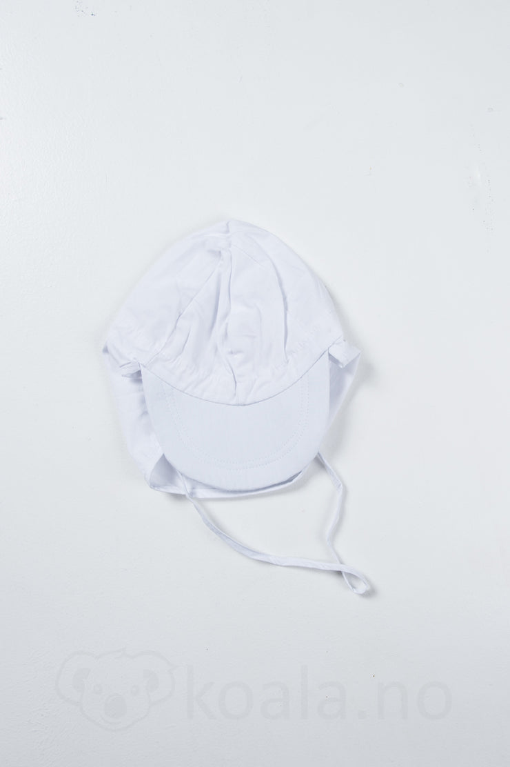 UV 30+ Cap w/neck, solid colour: Hvit