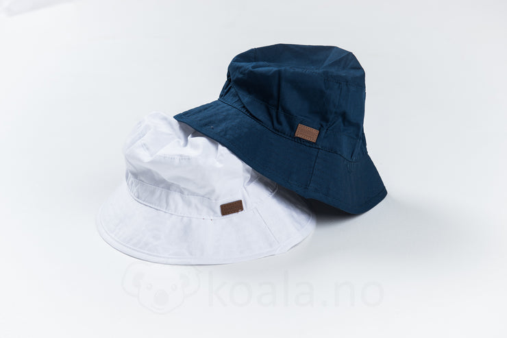 UV 30+ Bucket Hat, solid colour: Hvit