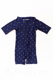 UV 50+ Tage beachsuit: Mini boats dark navy