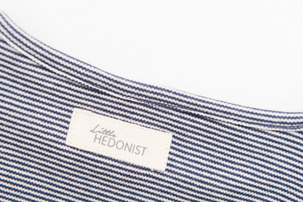 Shirt Isabel:Black iris/antique white striped