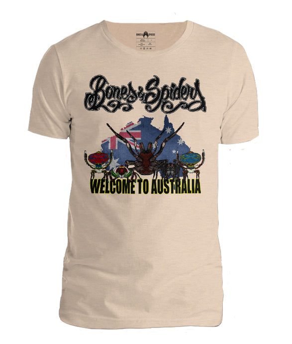 Bones & Spiders - Welcome to Australia t-shirt