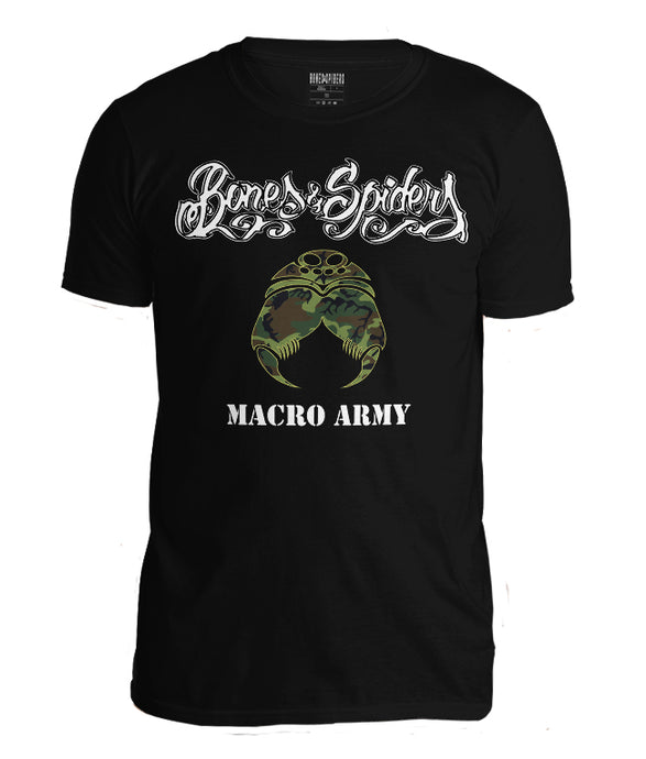 Bones & Spiders - MACRO ARMY - T-Shirt