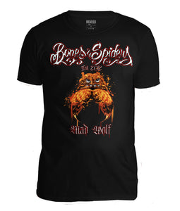 Bones & Spiders - Mad Wolf - T-Shirt