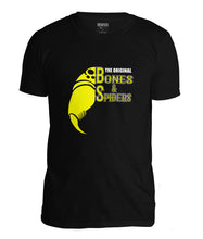 Laden Sie das Bild in den Galerie-Viewer, Bones & Spiders - Black and Yellow - T-Shirt