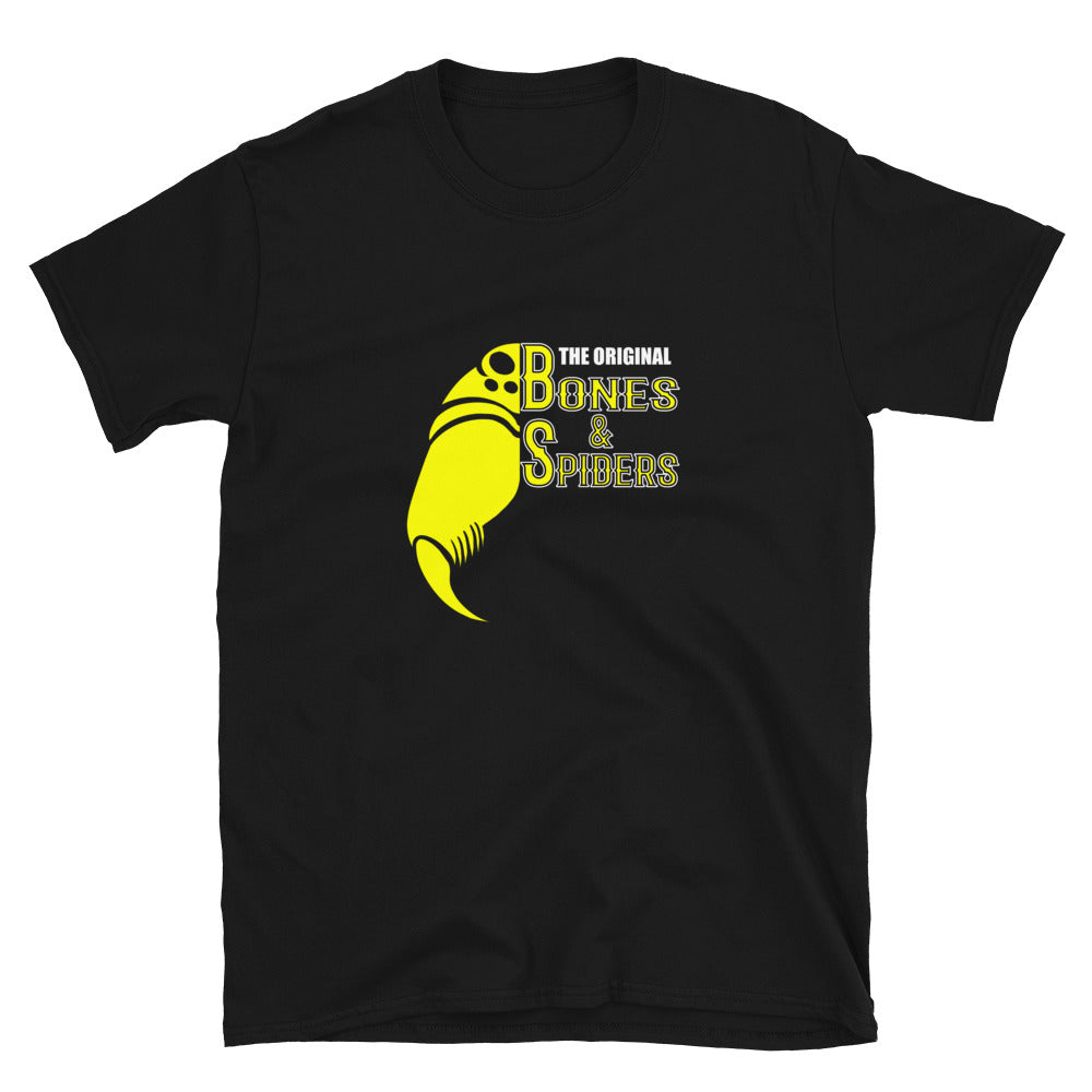 Bones & Spiders - Black and Yellow - T-Shirt